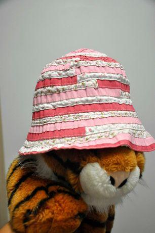 Летняя розовая панамка на девочку 3-4 лет