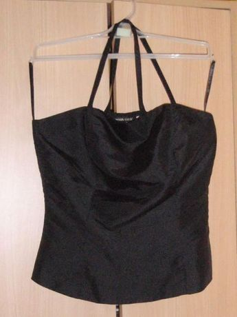 Strój na sylwestra/wesele spódnica+bluzka czarna z falbanką CottonClub