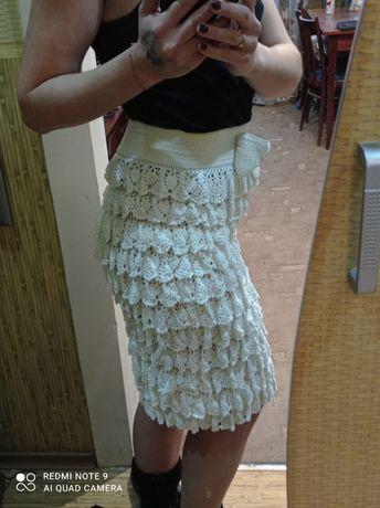 Платье (юбка) вязаное крючком +подарок