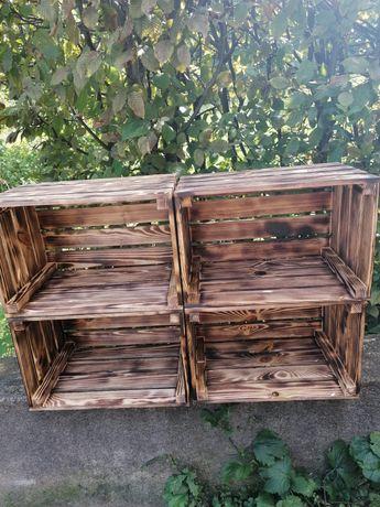 Wyroby Drewniane skrzynki półki