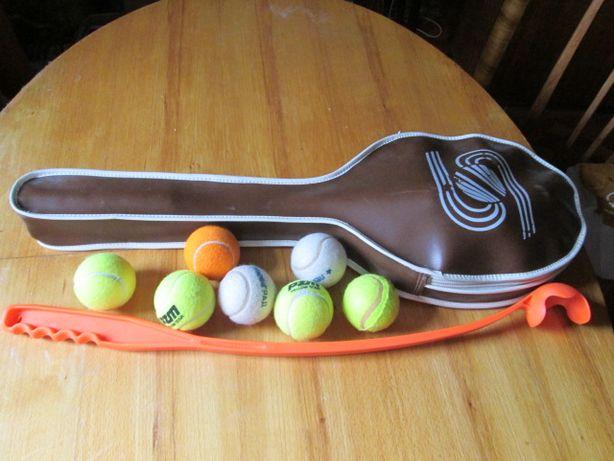 Теннисные ракетки, сумка, мячики