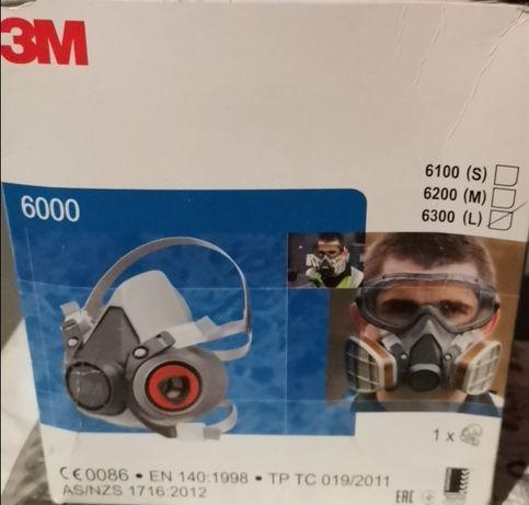 3M Gotowy Zestaw Maska Przeciwpyłowa 6300 plus para filtrów