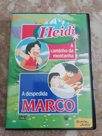 DVD HEIDI A caminho da montanha e A despedida de MARCO