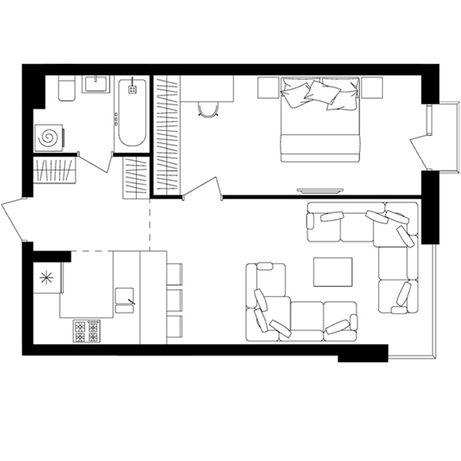 Продається однокімнатна квартира Avalon up
