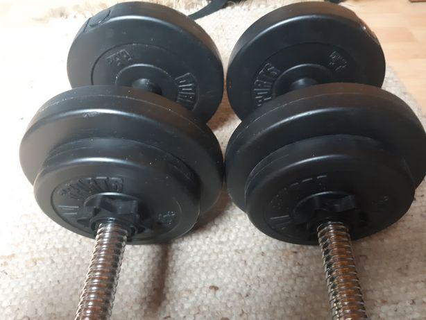 Hantle + obciążenie bitumiczne Gorilla sports 2,5 1,25kg nowe