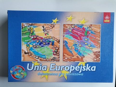 Unia Europejska, dwustronna gra planszowa Trefl, Firma Trefl, jak nowa