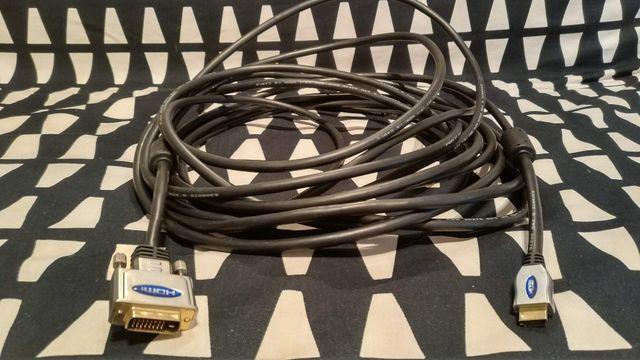 Kabel HDMI / DVI ( 24 + 1 ) chrom 10 m VITALCO Idealny
