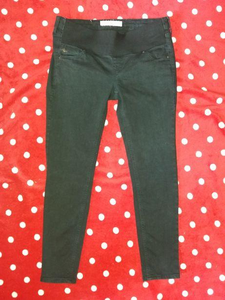 Spodnie ciążowe czarne rurki pod brzuch 36 s m
