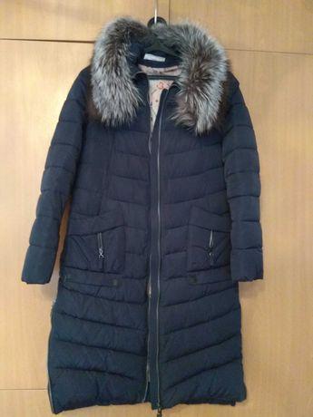 Куртка зимняя Пуховик  женская теплая (пальто) б/у р.48