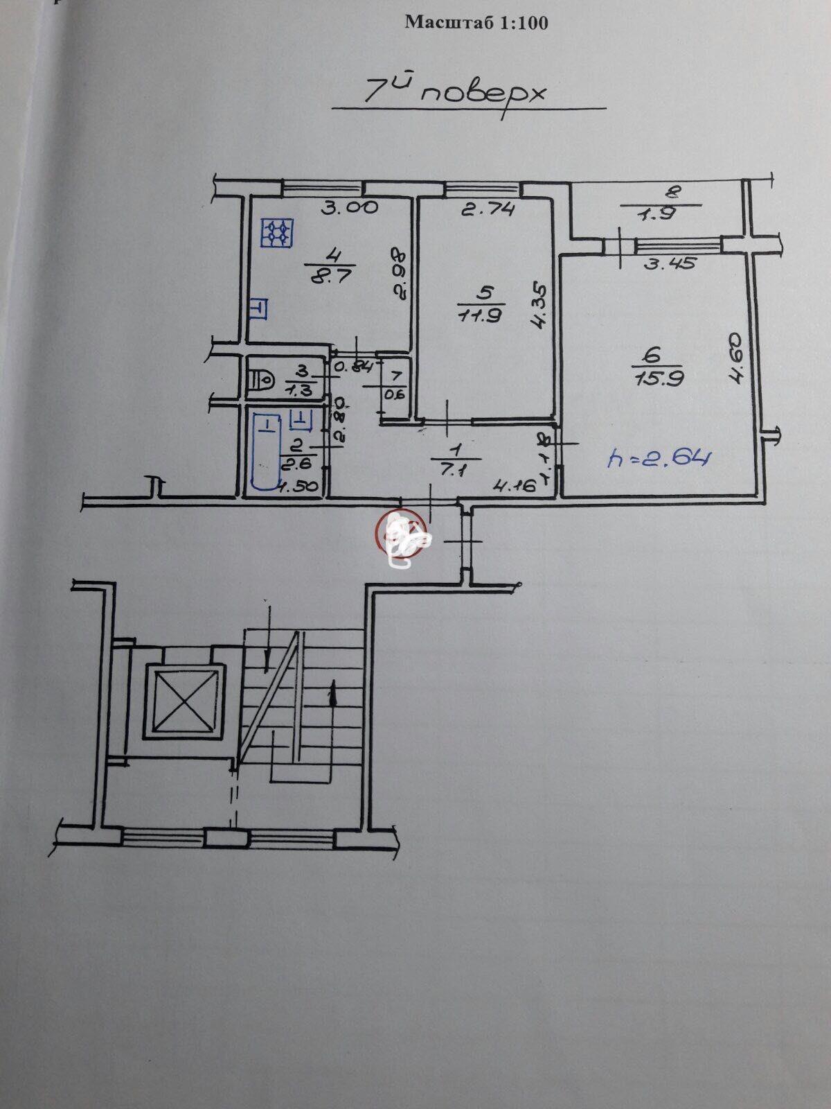 Продаж 2х кімн.квартири вул.Величковського(Рясне-2)
