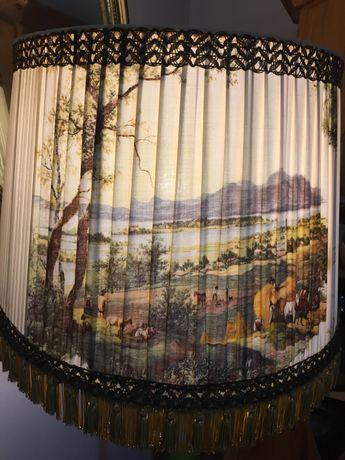Cudowna duża lampa podłogowa retro z widoczkiem