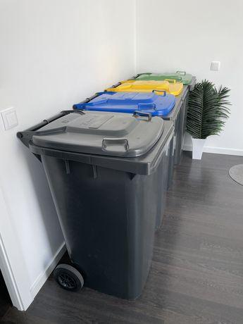 Contentores reciclagem lixo 240l
