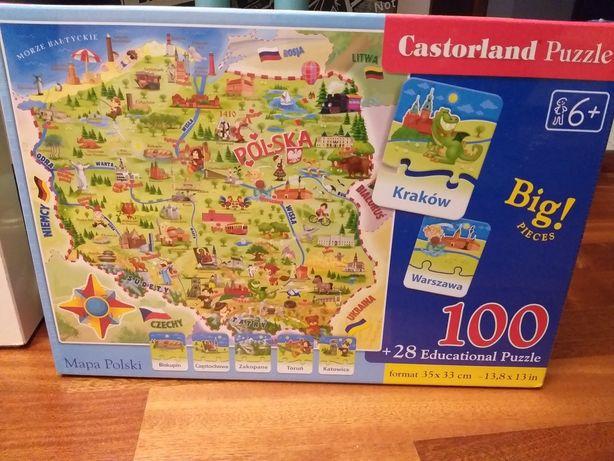 Nowe puzzle mapa Polski 100 el.