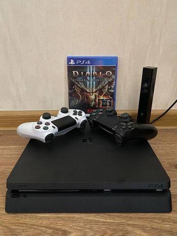 PlayStation 4 Slim 1Tb + 2 джойстика + PS Camera + 14 игр