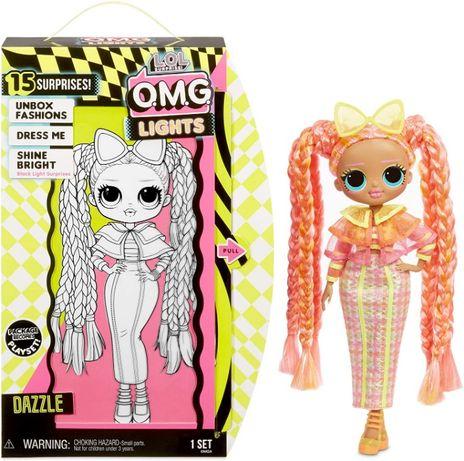 Кукла Лол ОМГ светящаяся неон Даззл LOL Surprise! OMG Lights Dazzle