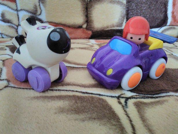 Машинка от Playstar и Зебра от Hasbro малышам 6-18 месяцев.