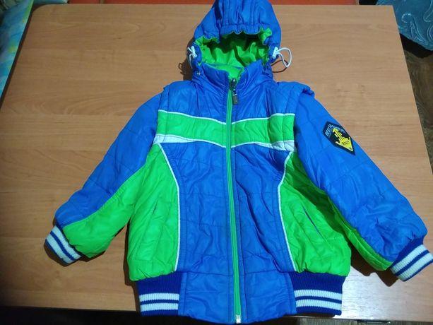 Весенне-осенняя куртка, жилетка на мальчика курточка для весны детская