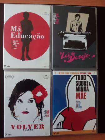 4 Filmes DVD originais Pedro Almodovar