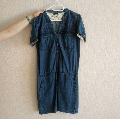 Платье джинсовое размер M-L летнее