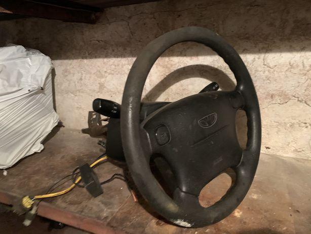 Руль с подушкой Ланос Сенс Рулевая колонка Lanos Sens