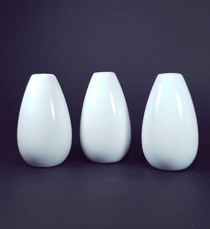 Ceramiczne białe wazoniki 3 szt.