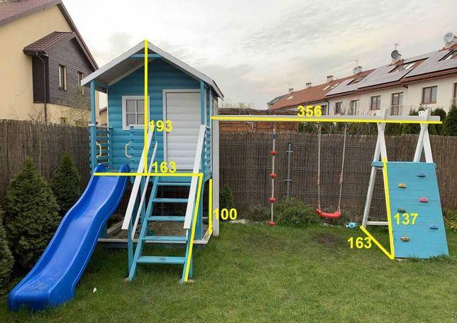 Детская площадка, домик, горка, качели, стенка, песочница