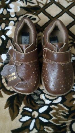 Кожаные туфельки на мальчика