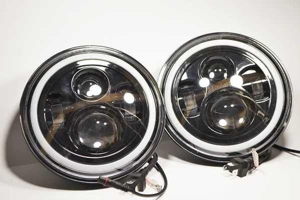 Світлодіодна LED фара 75Вт Нива, УАЗ 469, ВАЗ 2101, 2121, FJ Cruiser