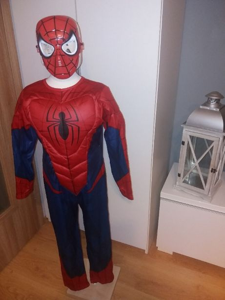 NOWY strój karnawałowy SPIDERMAN MIĘŚNIE przebranie kostium 134/140 10