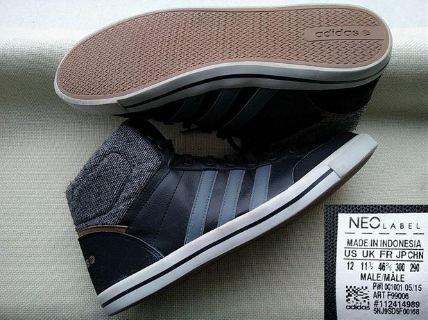 Кроссовки Adidas Neo 45-46р Оригинал высокие осенние