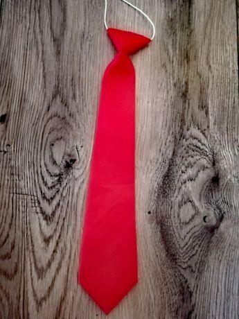 Krawat dziecięcy chłopięcy czerwony