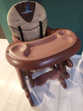 Krzesełko do karmienia Caretero Primus brązowo-beżowy