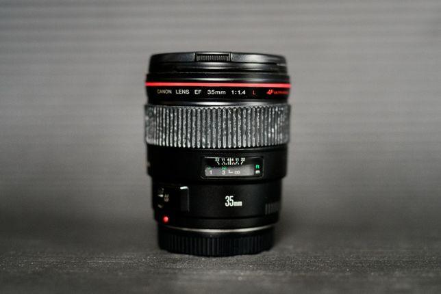 Obiektyw Canon EF 35 f/1.4L USM idealnie ostry Szkła czyste!