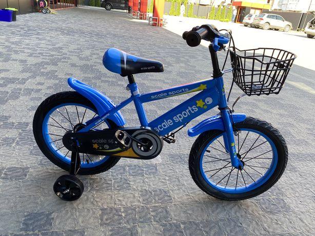 Велосипед «16» на 4-8 років з переднім багажником!