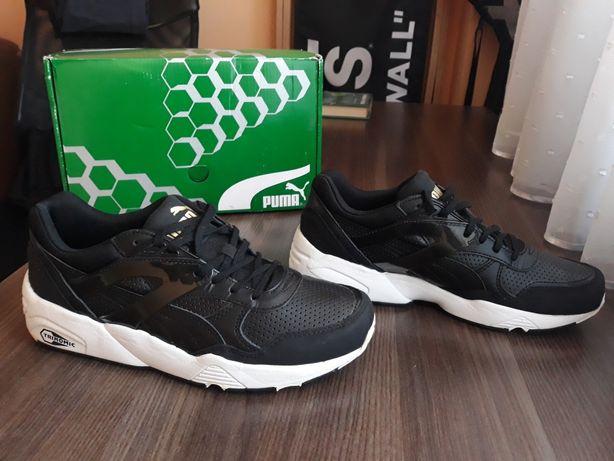 damskie buty puma r698 trinomic black r.39 czarne nowe sneakers kicks