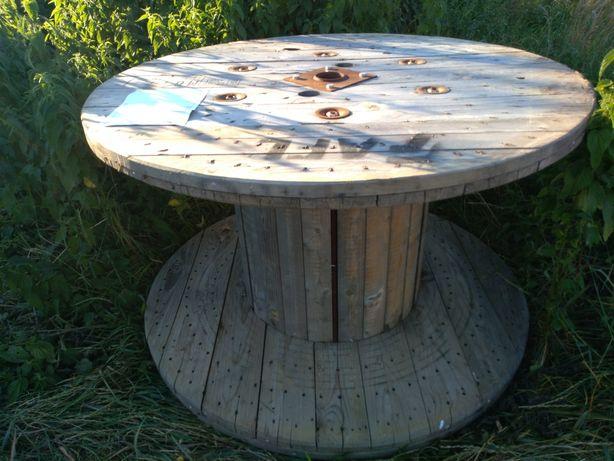 Blat, stół ogrodowy, rolka bęben średnica 160cm
