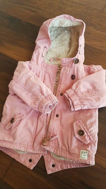 Kurtka Next 80cm pudrowy różowy dziewczynka