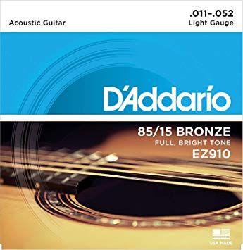 Struny do gitary akustycznej D'Addario EZ910 rozmiar 11-52