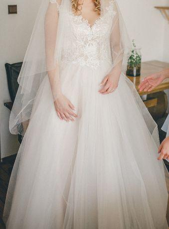 Piękna suknia ślubna -rozmiar 38-40 (wzrost max 180)