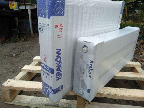 Стальной радиатор 22 тип Krakow 500*1000 боковое подключение