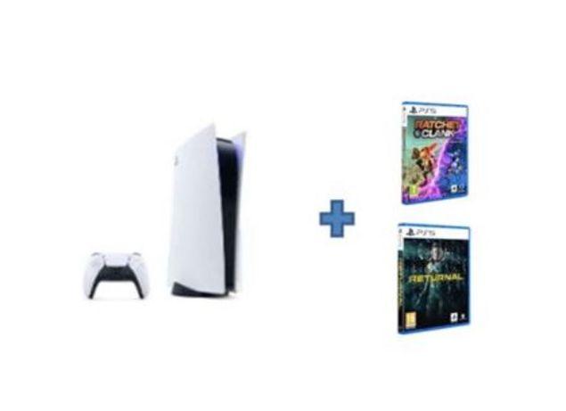 Bundle PS5 Standard + Ratchet Clank + Returnal NOVO SELADO FATURA