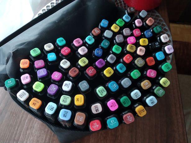 Profesjonalne markery Touchfive zestaw 80 sztuk