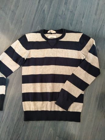 Sweterek wizytowy paski H&M
