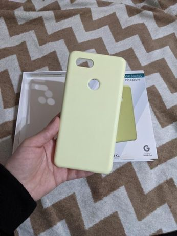 Pixel 3 xl soft case чехол оригинал желтый pineapple