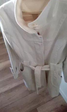 Płaszcz CIEPŁY podszewka Biały +GRATIS