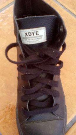 Sapatilhas bota em pele genuína
