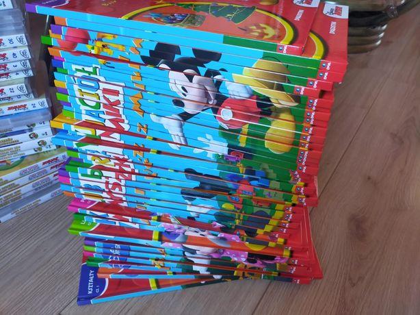 Kolekcja plyt i ksiazek Myszka Miki