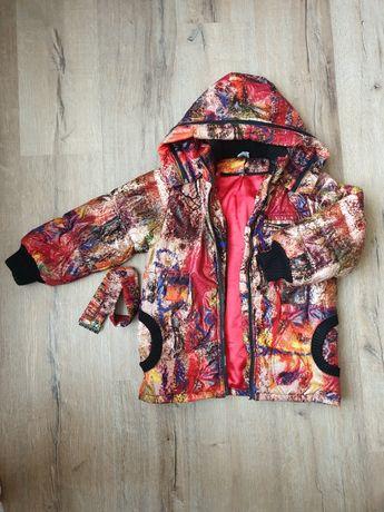Зимняя курточка на девочку 5 - 8 лет