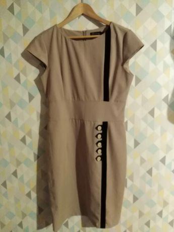 Ołówkowa sukienka z wiskozy
