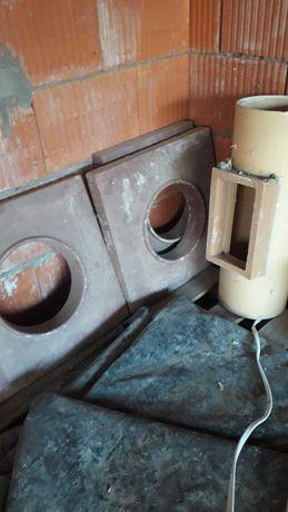 Wkład kominowy wyczystka, kamionka, daszek kominowy